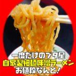 細麺味噌ラーメン250円